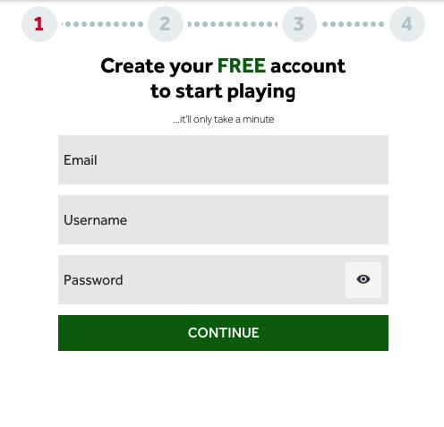 Genting Signup Form
